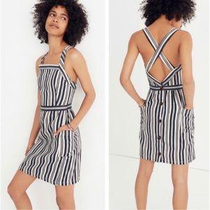 Madewell Apron Mini Dress In Evelyn Stripe Size 4